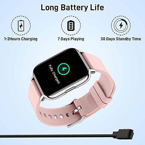 Smart Watch, Fitness Watch for Women with 1.69''Full Touch, 24 Sports Modes Smartwatch, Activity Tracker with Heart Rate and Sleep Monitor, IP67 Waterproof, Smart Watch for Men for Android iOS