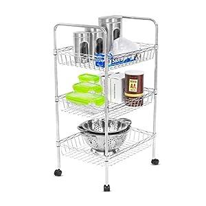 Internet's Best Chrome Kitchen Cart and Baker Rack