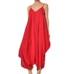2a68a18c340 Amazon.com  Yacun Women s Loose Rompers Baggy Harem Slip Overall Jumpsuit  Black S  Clothing