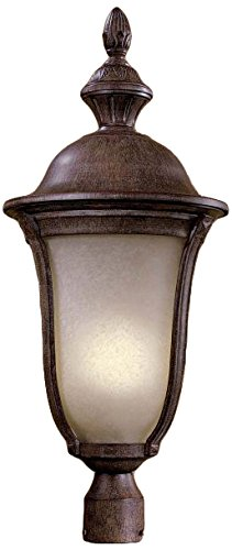 Minka Lavery 8996-61 3 Light Outdoor Post Mount, Vintage Rust
