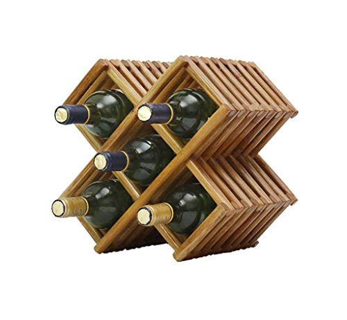 (Waitousanqi 5 Bottles of Solid Wood Wine Rack Living Room Wine Bottle Rack Display Stand / L30cm × W19.5cm × H30cm q45)