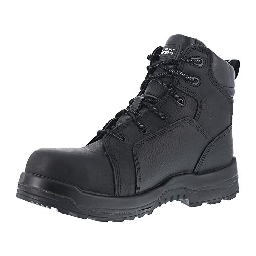 Rockport Womens Black Leather WP Work Boots More Energy Composite Toe 51kpC8K1T7