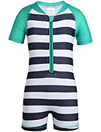 e555383c68 Kids Boy Girl Swimsuit One Piece Striped Surfing Suits Beach Swimwear Rash  Guard