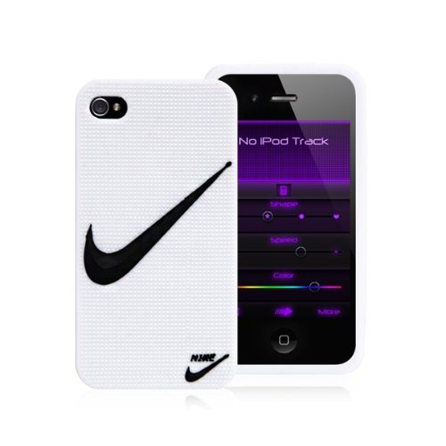 "Nike Logo Silicone Case White Cover for iPhone 4 and iPhone 4S - ""Just Do It"