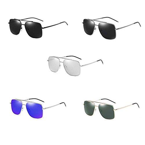 polarizada de Color luz Gafas Sol los de vidrios Lentes Fulgor Sun Doble Completo de Las de Providethebest del de Hombre Sunbproof Coolsir UV400 de de 3 Conducción Gafas X4xHwY