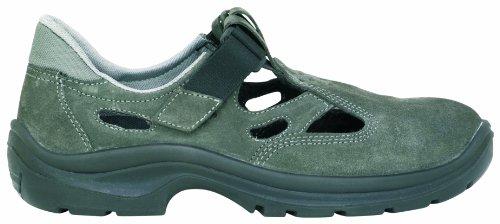 Sicherheits-Sandale S1 2460-0-100-47 Paire de sandales de sécurité en cuir de vachette effet nubuck, doublure intérieure Airnet, aération optimale grâce à la doublure filet, empreinte large (10), ferm