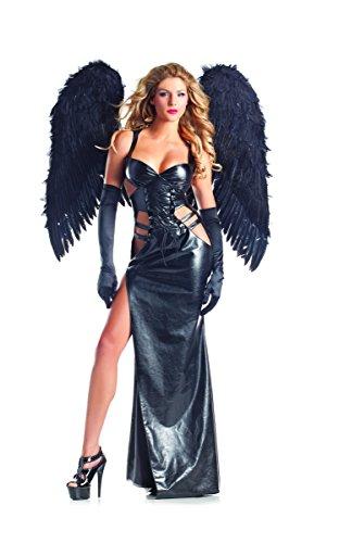 Sexy Gothic Costumes (Be Wicked Costumes Women's Dark Angel Gothic Vampire 2 In 1, Black, Small/Medium)