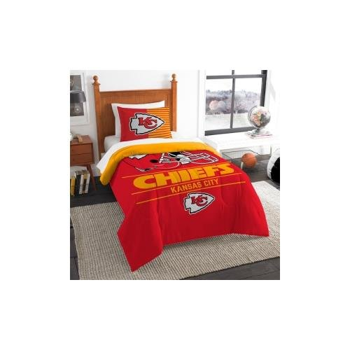 Chiefs Comforter Kansas City (The Northwest Company NFL Kansas City Chiefs Twin Comforter and Sham, One Size, Multicolor)