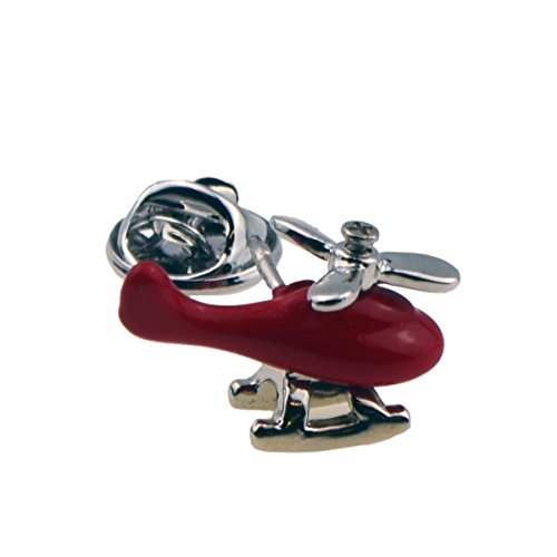 Wow Cufflinks Red Helicopter Lapel Pin Badge