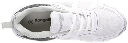 Kangaroos Unisex Adults' Kr-Run 5 Trainers White (White/Vapor Grey 0001) svtYy3gD