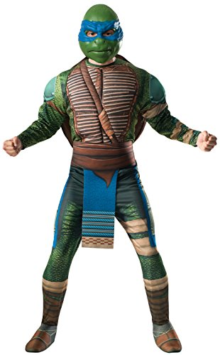 Rubie's Costume Men's Teenage Mutant Ninja Turtles Movie Deluxe Adult Muscle Chest Leonardo, Multicolor, Standard
