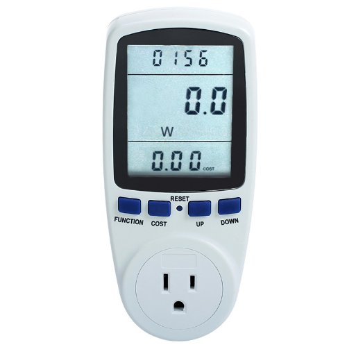 Excelvan LCD Display Smart Plug Power Meter Energy Watt Voltage Amps Meter with Electricity Usage Monitor Reduce Your Energy Costs
