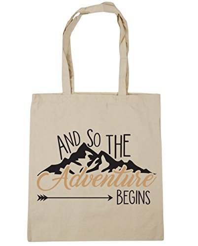 Begins Shopping So Adventure x38cm Tote Gym And The 10 litres Natural Bag 42cm HippoWarehouse Beach xIaqZYwZ