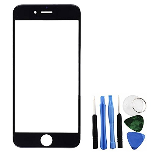 Bislinks® Front Glass Lens Screen Black + Tools Replacement Part Repair for iPhone 6 - To Lenses Fix Scratched How