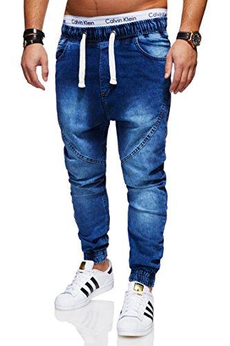 Behype Foncé Homme Jeans Behype Jeans Bleu g58wqX
