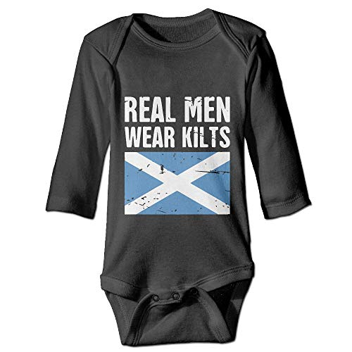 Wear Kilt Outfit - Printed Scottish Flag Real Men Wear Kilts Kawaii Baby Infant Girls Long Sleeves Bodysuit Outfits Clothes