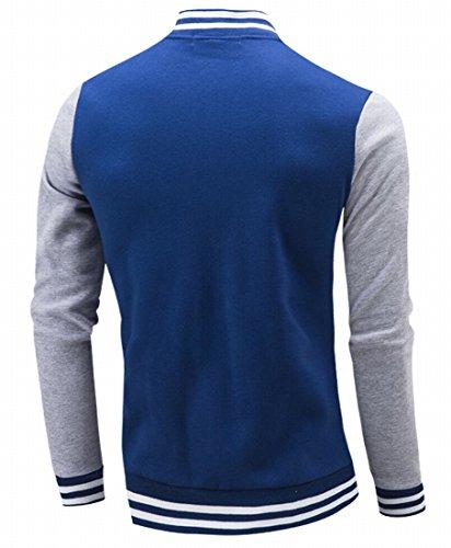 Dark Cotton amp;S Fashion Lightweight Blue Baseball Slim Jacket Bomber Fit amp;W Premium Mens M 78qxHdAA