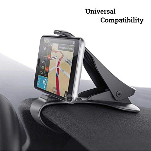 ClipGrip Cell Phone Car Mount | Dashboard Universal Smartphone Car Holder | Mobile Clip Stand HUD Design Compatible for iPhone X/8/7/7P/6s/6P/5S, Galaxy S5/S6/S7/S8, Google, LG, Huawei and More
