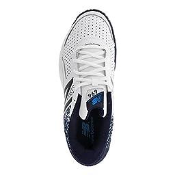 New Balance Men\'s MC696v3 Tennis Shoe, White/Blue, 9 D US