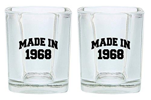 50th Birthday Shot Glass Made 1968 Birthday Gift Shot Glasse