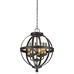Sea Gull Lighting 3110404-715 Sfera Four-Light Chandelier with Mercury Glass, Autumn Bronze Finish