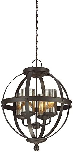Sea Gull Lighting 3110404-715 Sfera Four-Light Chandelier Hanging Modern Fixture Autumn Bronze Finish