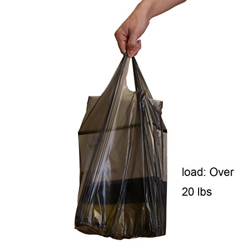Trash Bag Tall Handle 6 Gallon 90 Counts Extra Strong Durable Garbage Office Home Kitchen Living Room Bedroom Bathroom (Black)