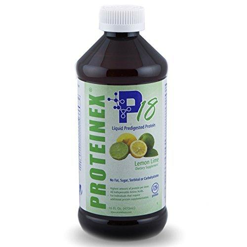 Proteinex 18 Liquid Protein 16 oz Bottle, 1/Each Lemon Lime by Proteinex