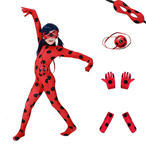 Da Mai Halloween Cosplay Ladybug Kid Costumes Chlid Little Beetle Suit (5 Piece Suite ) -