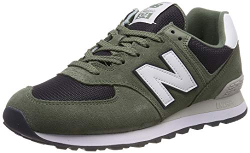 New Balance Men's Iconic 574 Sneaker Mineral Green/Outerspace 10 2E US