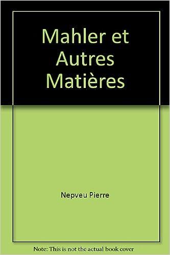 Ebook pour dot net téléchargement gratuit Mahler et autres matières PDF CHM ePub