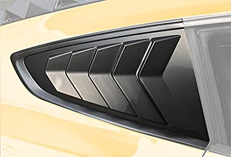 Opall Window Louvers Matte Black ABS Rear Window Scoop Cover in GT Lambo Style Fits for 2015 2016 2017 Ford Mustang /…