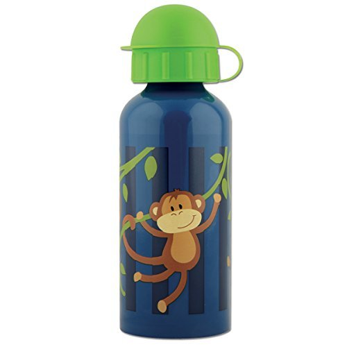 Stephen Joseph Boy Monkey Stainless Steel Water Bottle, Navy Blue/Green by Stephen Joseph