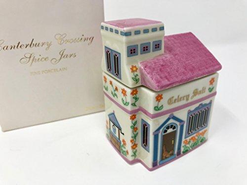(Lenox Fine Porcelain The Lenox Village Spice Jar 1989 Vintage Collectable - Celery Salt)