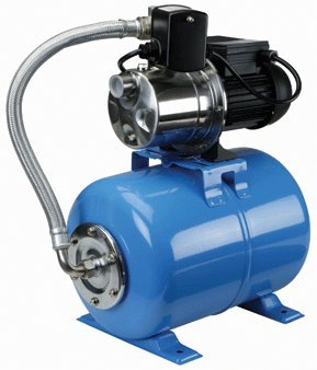 1 Horsepower Shallow Well Booster Pump with Stainless Steel Housing and Volute and 6.3 Gallon Hardened Steel Alloy Tank; Maximum well depth: 26 ft.