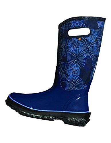 Bogs Women's Berkley Solid Rain Boot, Dark Blue/Multi, 9 M US