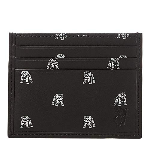 Polo Ralph Lauren Men`s Bulldog Card Case (Black(4035), One Size) (Holder Polo Card)