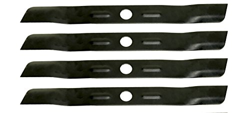 Low Lift Mower Blade - USA Mower Blades (4 BD18BP Low Lift Mulching Blade Replaces Black and Decker 90548199 Length 17 1/2 in. Width 1 3/4 in. Thickness .150 in. Center Hole 1 in.