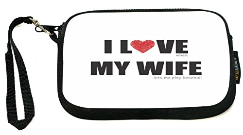 UKBK I Love my Wife - Baseball Humor Clutch Wristlet with Safety Closure by Rikki Knight