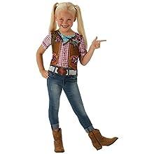 Disfraz de Rodeo Cowgirl para niña, camiseta - infantil 5-7 años (Rubie's 630694-M)