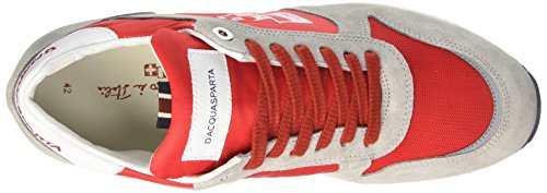 DAcquasparta Cosimo, Sneaker a Collo Basso Uomo Grigio (Perla Rosso)