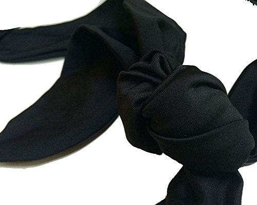 Lalagen Women's High Waist Halter Bandeau 2 Piece Plus Size Bikini Swimsuit (XXXXXL, black4)