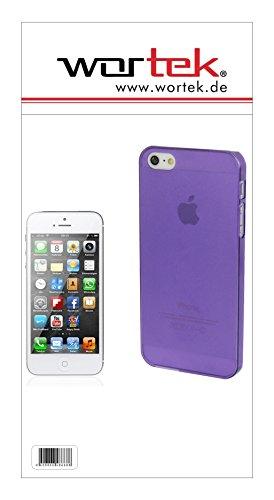 wortek Hardcase Schutzhülle Apple iPhone 5 / 5S Lila (Matt / milchig) Ultra Dünn 0,3mm
