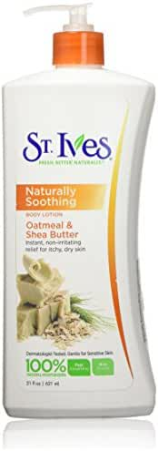St. Ives Nourish & Soothe Body Lotion, Oatmeal and Shea Butter 21 oz