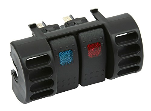 Daystar, Jeep TJ Wrangler Switch Pod, Air Vent, Includes 2 Daystar, Rocker Switches, Black, fits Cherokee XJ and TJ 1984 to 2006 2/4WD, KJ71036BK, Made in (Vent Switch Panel)
