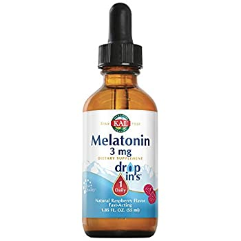 Kal 3 Mg Melatonin Raspberry Dropins, 1.85 Fluid Ounce