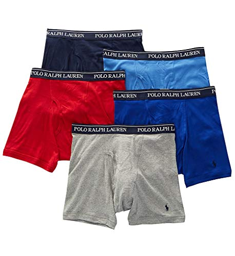 Polo Ralph Lauren Classic Fit w/Wicking Boxer Brief 5-Pack Andover Heather/Aerial Blue/Rugby Royal/RL2000 Red/Cruise Navy MD (Usa Polo Ralph Lauren)
