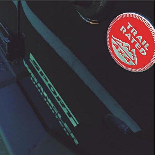 UpAuto 2 pcs Metal Trail Rated 4x4 Round Emblem Badge 3D Self-adhesive Logo Sticker For Jeep Wrangler Cherokee Liberty Black
