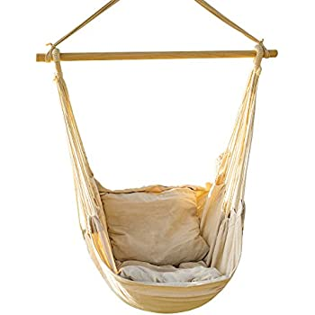 Amazon.com : Best Choice Products Deluxe Padded Cotton Hammock ...