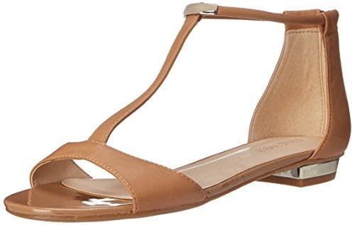 Nine West Women's Ukie Leather Dress Sandal, Light Natural, 7 M US